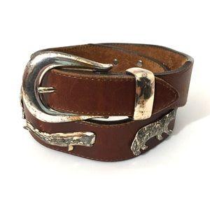 Vintage Honest Animal Concho Belt